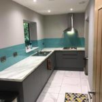 teal splashback