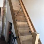after installation of balustrade downstairs