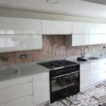 preparing kitchen for splashback installation