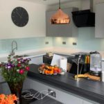 ice blue splashback full kitchen
