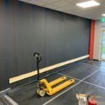 walls ready for mirror installation