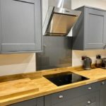 kitchen splashback near cooker